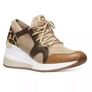 Michael Kors liv heeled sneakers leopard 6, 7